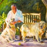 Portrait of Chuck and his Dogs